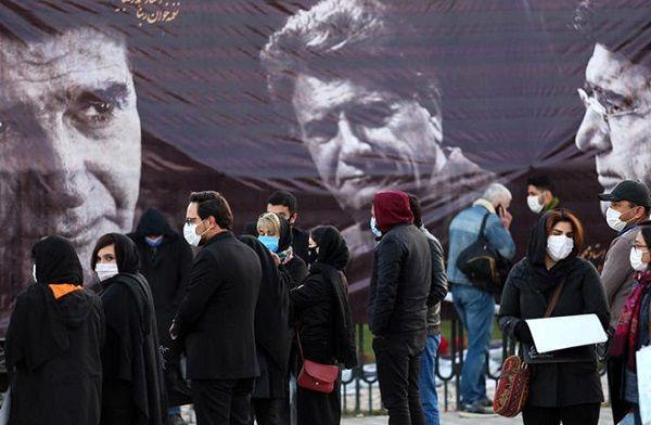 حضور چهره ها در مراسم خاکسپاری «محمدرضا شجریان»