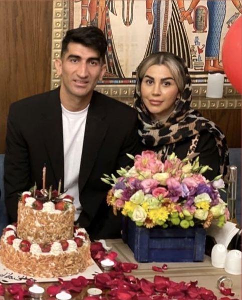 علیرضا بیرانوند و همسرش + عکس