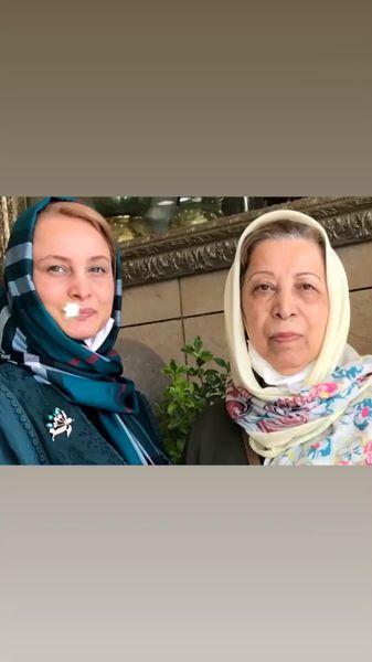 مریم کاویانی در کنار مادرش + عکس