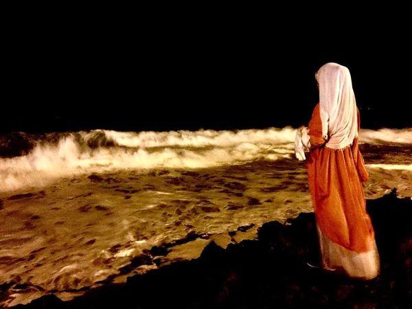 عکس معنوی خانم بازیگر دلدادگان لب دریا