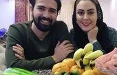 نیلوفر شهیدی و همسرش در خانه + عکس