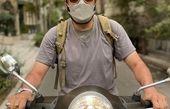 موتور لوکس مهران رنجبر در یکی از خیابان های تهران + عکس