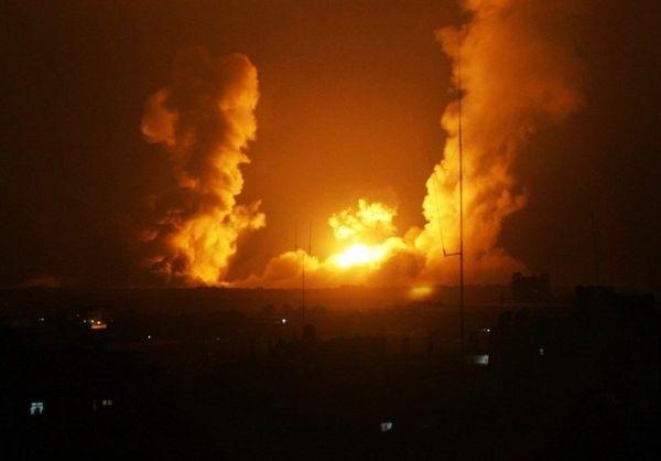 حملات هوایی جنگندههای اسرائیلی به غزه