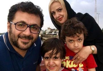 شهرام عبدلی و خانواده اش در بندر کیاشهر
