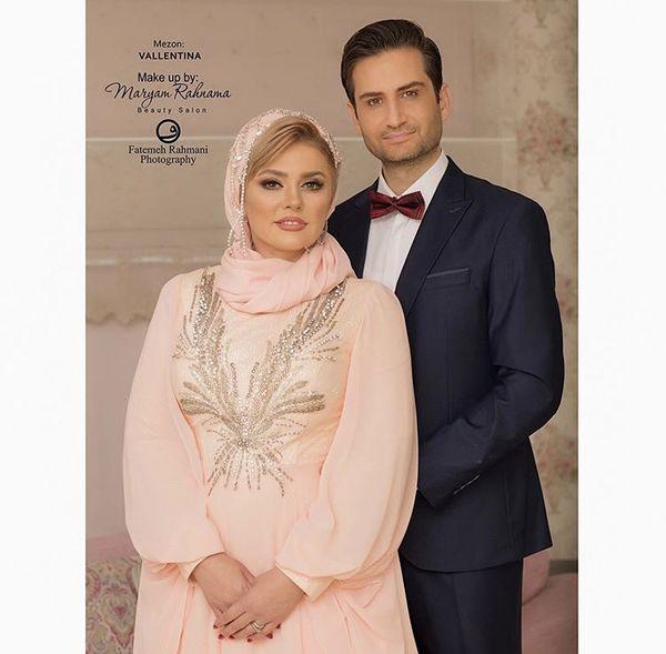 پویا امینی و همسرش + عکس