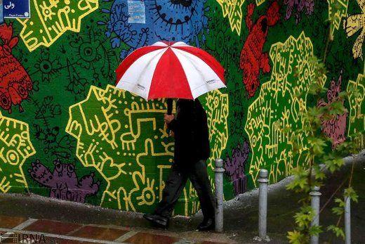 جزییاتی از بارش برف در تهران