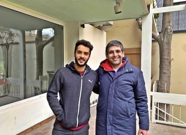 حمید گودرزی و دوست جوان مشهورش + عکس
