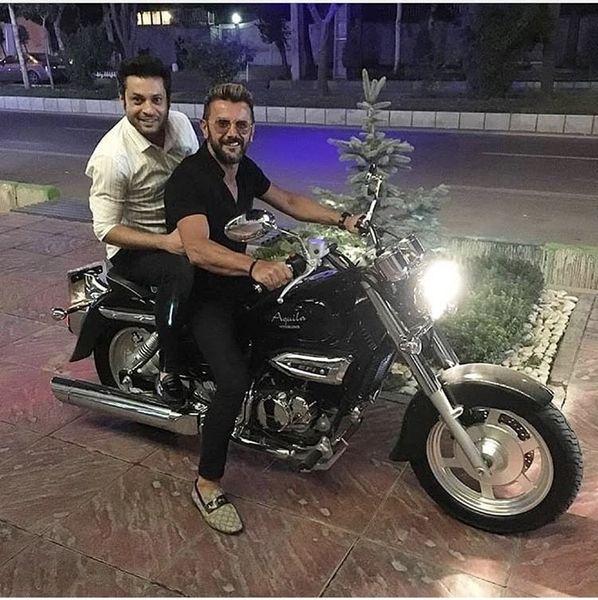 موتورسیکلت حرفه ای امین حیایی + عکس
