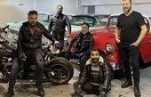 هادی کاظمی و دوستان موتورسوارش + عکس