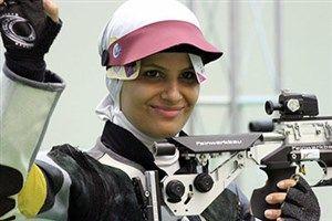 جابجایی رکورد جهانی تیراندازی توسط الهه احمدی