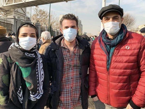 بازیگران مشهور در اعتراضات دیروز بهارستان + عکس