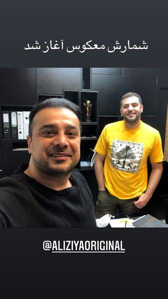سلفی سپند امیرسلیمانی با مجری معروف + عکس