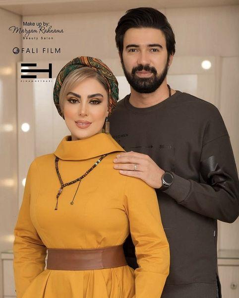 نیلوفر شهیدی و همسرش + عکس