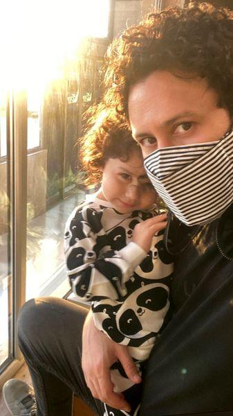 عاشقانه ای دیگر از شاهرخ استخری و دخترش + عکس