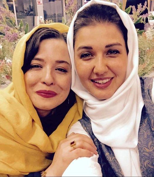 عکس دوستانه مهراوه شریفی نیا و همسر خارجی آقای بازیگر
