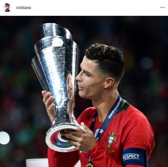 جام قهرمانی لیگ ملتهای اروپا در دستان کریس رونالدو