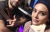 حدیثه تهرانی و همسرش در اتاق کارشان + عکس