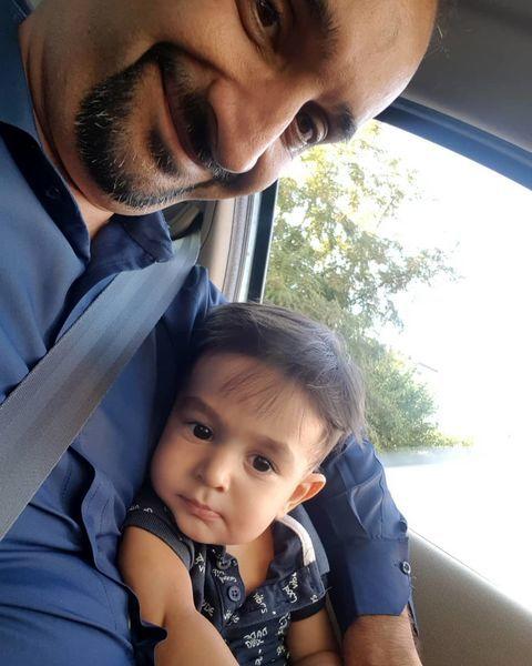 نیما کرمی و پسرش در پشت فرمون + عکس