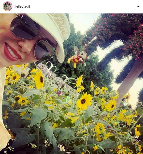 لیلا اوتادی در میان گلهای آفتابگردان + عکس