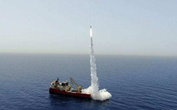 آزمایش موشک بالستیک رژیم صهیونیستی در دریا