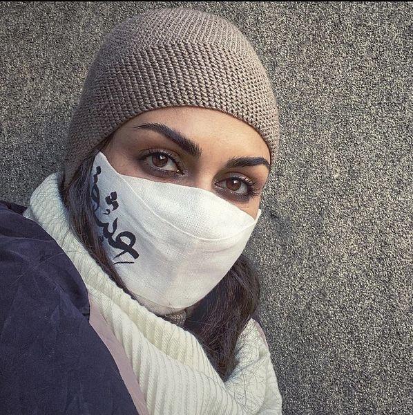 ماسک هنری خانم بازیگر + عکس
