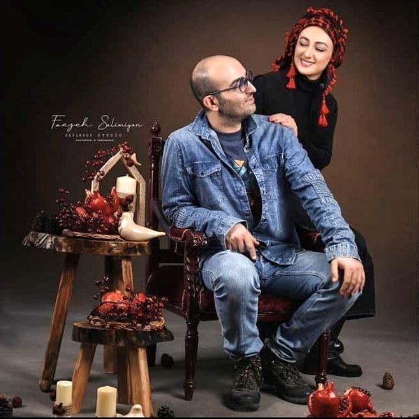 عکس آتلیه ای ویدا جوان و همسرش