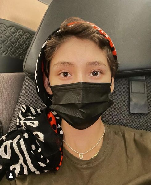 استایل فرشته حسینی در هواپیما + عکس