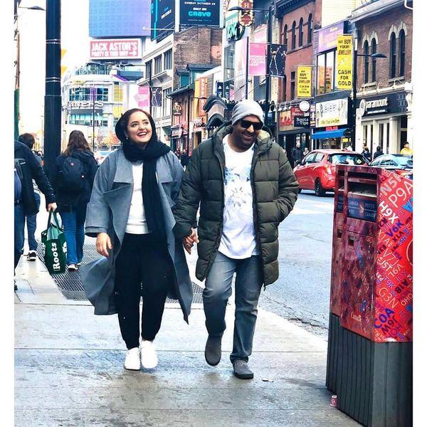سفر خارجی ستایش و همسرش بعد اتمام فیلم+عکس