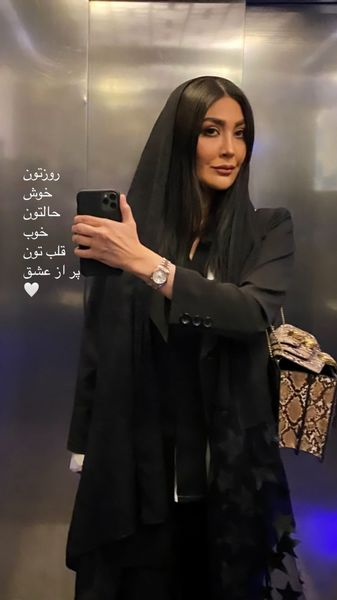 عکس آسانسوری مریم معصومی