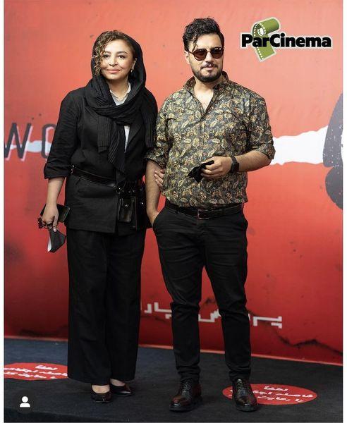 جواد عزتی و همسرش در یک مراسم + عکس