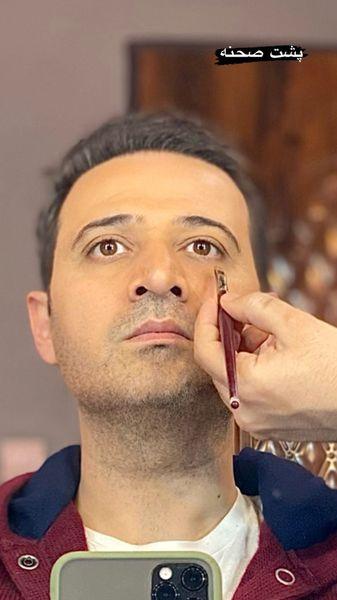 سعید شیخ زاده در حال گریم + عکس
