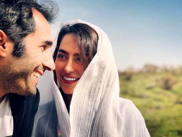 گردش بازیگر تازه عروس و همسرش در طبیعت+عکس