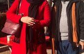 فاطمه گودرزی با پالتوی قرمز جوانانه اش!