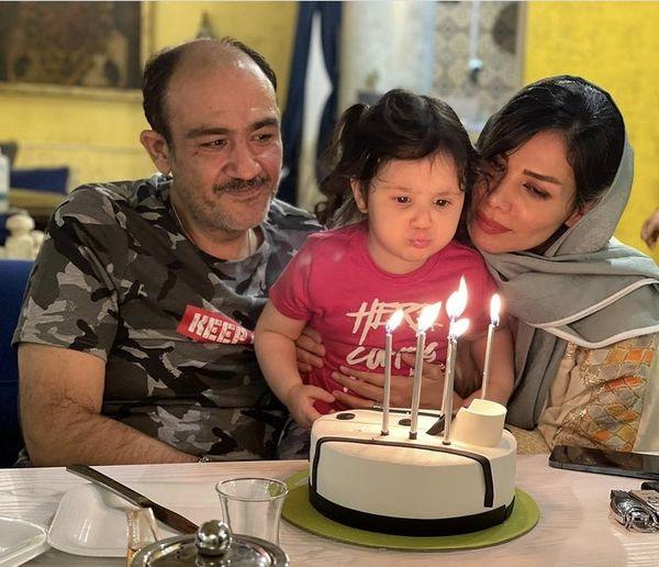 تولد مهران غفوریان با همسر و دخترش + عکس