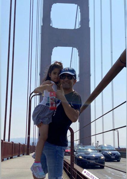 مجید یاسر وخواهر زاده اش در سانفرانسیسکو + عکس
