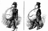 کاریکاتوری از تفاوت یک آدم پولدار و یک آدم فقیر