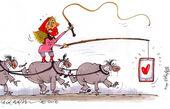 کاریکاتور شگرد برخی دخترها در اینستاگرام!