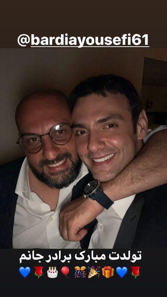 تبریک امیرعلی دانایی به دوست صمیمی اش + عکس