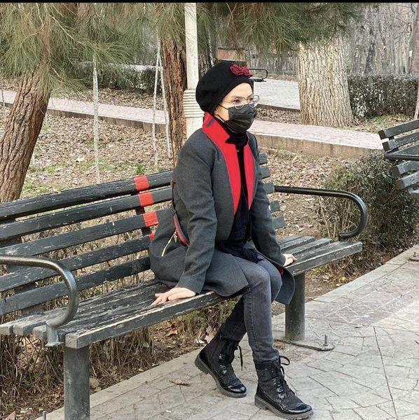 خاله شادونه در پارک + عکس