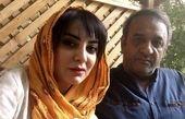 حمیرا ریاضی و همسرش در یک باغ + عکس