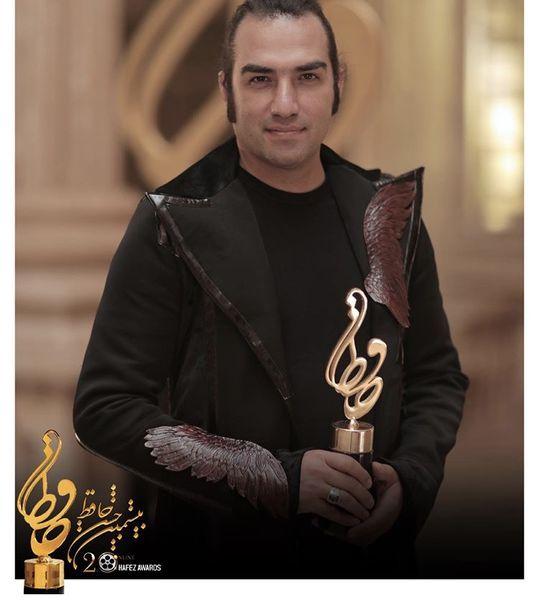 رضا یزدانی برنده تندیس حافظ بهترین ترانه تیتراژ + عکس