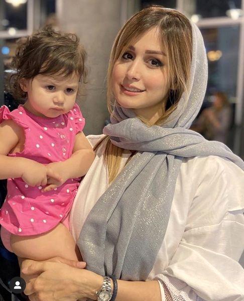 همسر و دختر کوچولوی شاهرخ استخری + عکس