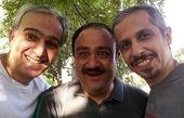 عکس خوشحال سه بازیگر طنز معروف