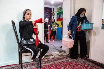 «معصومه حسینی» برای تمرین آماده می شود