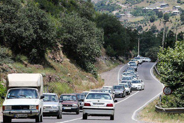 ترافیک سنگین در محورهای فیروزکوه، هراز