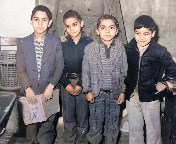کودکی بامزه مهران مدیری + عکس