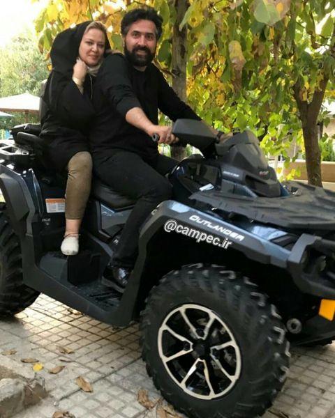 تفریح جوانانه بهاره رهنما و همسرش+عکس