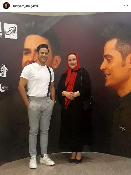 مریم امیرجلالی در کنسرت خواننده جوان پسند+عکس