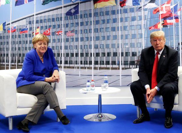دیدار رئیسجمهور آمریکا و صدراعظم آلمان