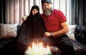 علی انصاریان و مادرش مذهبی اش + عکس